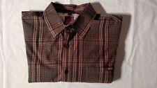 Paul Frank Men's Long Sleeve Plaid Casual Dress Shirt - Size Medium