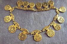 "Cock Necklace Choker 15.5"" c1760 Unusual Antique Georgian English Gilt Watch"