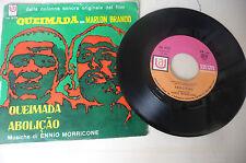 """ENNIO MORRICONE""""QUEIMADA-Disco 45 giri UA It 1969"""" OST"""