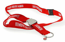 Lanyard Schlüsselband REMOVE BEFORE FLIGHT NEU Keyring Seatbelt Schnalle RC