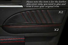 RED STITCH 2X FRONT DOOR CARD TRIM LEATHER COVERS FITS ALFA ROMEO 159 05-12