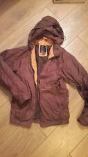 Duck And Cover Lightweight Rain Coat Nitro brown orange retro ladies small