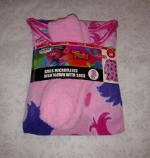 DreamWorks Trolls Pink Nightgown Socks Set Girls Microfleece Medium NWT