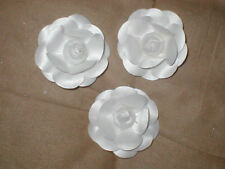 lot of 3 Vintage White CAMELIA Millinery Flowers