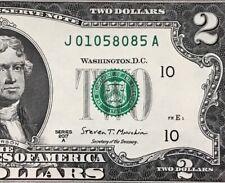 WOW 2017 A $2 TWO DOLLAR BILL ( KANSAS CITY J )   Uncirculated
