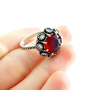 Authentic Handmade Jewelry Vintage Turkish Silver Elegant Gorgeous Rings R3276