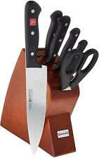 Wusthof Gourmet Seven Piece Mobile Block Knife Set Cherry 8940-2 NEW