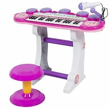 PIANO FOR TODDLERS KEYBOARD with MICROPHONE and STOOL Electronic Music 37 Keys