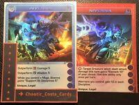 NIVENNA & AIVENNA - CHAOTIC CARD - SUPER RARES - TCG - CCG - RANDOM STATS - ROTO