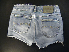 Silver CUTOFF JEANS SHORTS Cut Off W 28 Hot Pants Daisy Duke Zipper-fly Low Rise