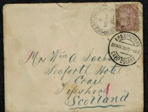 Boer War Cancel FPO On Cover to Scotland 1899