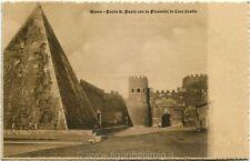 Primi anni 1900 Roma - Porta S. Paolo con la Piramide di Caio Cestio - FP B/N