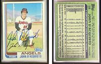John D'Acquisto Signed 1982 Topps #58 Card California Angels Auto Autograph