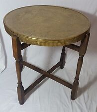 Beautiful  Antique Middle Eastern Brass Tray Table