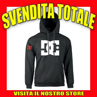 FELPA CAPPUCCIO DC SHOES IDEA REGALO TOP AUTO TUNING MOTO NERA UOMO DONNA