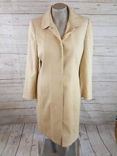 Tahari By Arthur Levine 2 Piece Size 10 Skirt Set LONG Blazer Jacket Ivory Gold