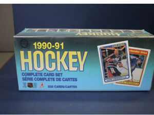 (2) Two Sets 1990-91 OPC Hockey Complete Set of 528 Factory Sealed
