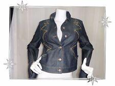 b- großartig Jacke Fantasie aus jean Stickerei christian Lacroix Größe 40