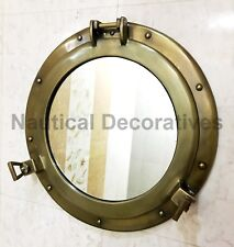 "17"" Porthole Window Antique Wall Mirror Ship Cabin Porthole Nautical Home Decor"