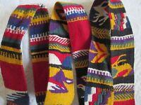 VTG HAND WOVEN INDIAN SOUTHWESTERN MEXICAN DESIGN BELT~NATIVE AMERICAN DESIGN