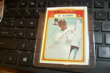 New listing 1972 Topps#50 Willie Mays in action
