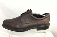 Ecco Mens Brown Leather Bicycle Toe Oxfords Dress Shoes Size Eu 47 / Us 13/ 13.5