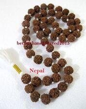 6 MUKHI RUDRAKSHA SIX FACE RUDRAKSH MALA KANTHA NEPAL53+1 COLLECTOR 20 MM BEADS