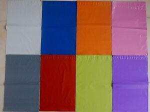 Poly Postal Bags Various Colours Parcel Bags Post 6.5X9 9X12 10X14 12X16 14X20