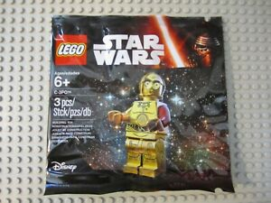 LEGO 5002948 Star Wars Figure The Force Awakens C-3PO Minifigure Polybag Red Arm