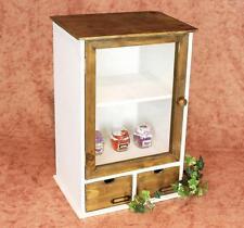 Armario minivitrina 12024 Mueble de cocina estantería 50cm Shabby ESCAPARATE