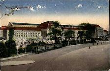 Leipzig Sachsen 1919 Hauptbahnhof Bahnhof Straßenbahn Tram Station gelaufen