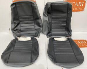 Denim Twill Grey Vinyl retrim cover kit Fits Land Rover Defender TDCI front seat