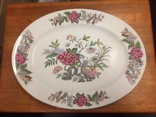 Antique WEDGWOOD large oval serving plate CATHAY  pattern