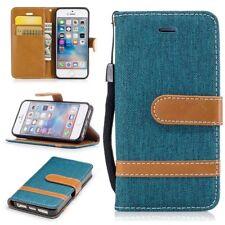 Funda para Apple Iphone 5/ 5s/ Se Jeans Cover Protector de Móvil Verde Nuevo