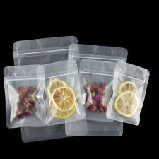 Resealable Matte Clear Zip Bags Flat Storage Lock Pouches Food Grade Packaging