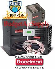 3 Ton Goodman 14 seer 96% 100K BTU Gas Furnace UPFLOW GMSS961005CN+ 50ft LineSet