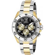 Invicta Men's Watch Pro Diver Chronograph Black Dial Two Tone Bracelet 18220