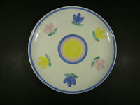 "Caleca Stella Dinner Plate Italian Art Pottery Pastel 11 1/8""  - Italy"
