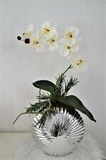 Orchidee Phalaenopsis in Vase Kunstblume Seidenblumen künstliche Pflanze Deko