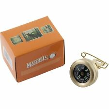 """Marbles Brass Pin On Compass Hunting 1"""" Diameter Waterproof MR1141"""