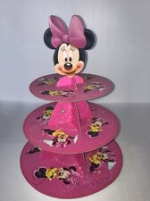 Minnie Mouse 3-tier Cake Stand Cupcake Holder Baby Kids Birthday Party Supplies!