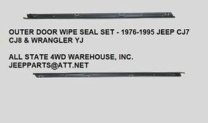 New Left//Driver Side Front Door Weatherstrip Seal For Jeep Wrangler 1976-1995