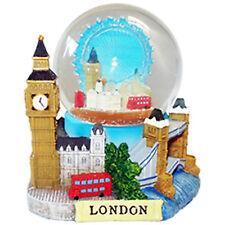 Londra Souvenir 3D DE LUXE Collage palla di neve con dettagli di Londra Luoghi Storici piccole
