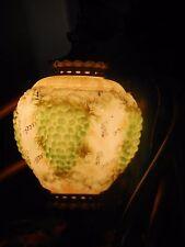 Vtg Swag Lamp 1960s Italian Grape Cluster Milk Glass Light For Parts/Repair