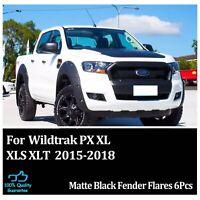 FIT FORD RANGER PX2 WILDTRAK MKII T7 FENDER FLARES WHEEL ARCH 15-2016-2017-2018