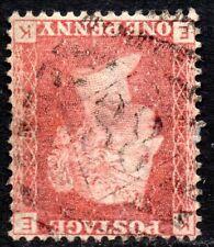 1864 SG 43Wi 1d rose-red 'EK' Plate 86 Inverted Watermark