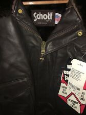 NWT SCHOTT Flight Bomber motorcycle Jacket Cowhide Leather New 184SM XXL 54