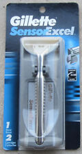 Gillette Sensor Excel Razor (2000) - 2 Cartridges - HANDLE MADE IN USA