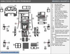 DASH TRIM PREMIUM KIT 49 PCS FITS LAND ROVER RANGE ROVER 1996-2002 ANY COLOR