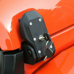 Hood Latches with Lock Hood Locking Catch Kit for 2007-2021 Jeep Wrangler JK JL